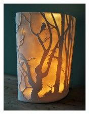 "Amy Cooper  ""Chillpark Woods"" porcelain light #shopsweetandspirited #smallbizsaturday"