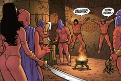 dejah thoris arrives to free her father and grandfather from the torture chamber