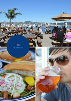 Fish. in Sausalito. Killer views and crab rolls. From the Spotted SF blog.