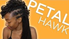 Styling Your Locs The Petal-Hawk Style  Read the article here - http://www.blackhairinformation.com/general-articles/hairstyles-general-articles/styling-locs-petal-hawk-style/ #locsandfauxlocs