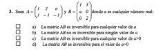Ejercicio 3 del Examen de Matemática 2 (ADE, ULL). 3 Junio 2013. Tema: Matrices