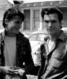 Rob Lowe and Patrick Swayze (The Outsiders)