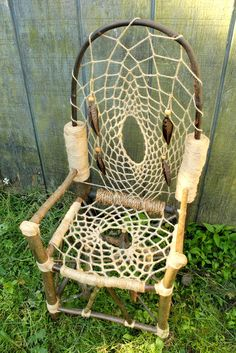 Hey, I found this really awesome Etsy listing at https://www.etsy.com/listing/158991499/dreamcatcher-chair-no14-mini-recycled