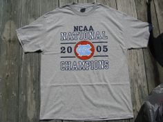 North Carolina UNC Tar Heels 2005 National Champions Basketball XL T-Shirt