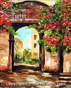 Painting With A Twist #PWAT #PaintingWithATwist Through The Gate