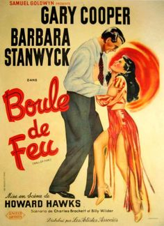 French BALL OF FIRE poster
