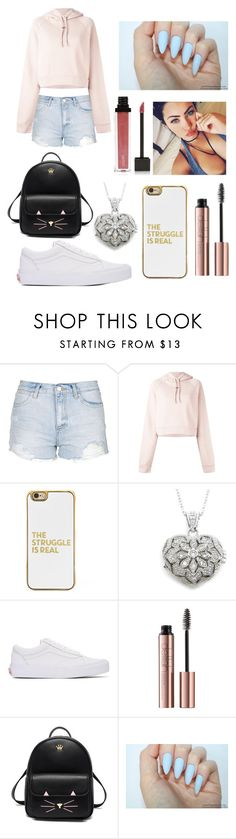 """""""1"""" by xxchancexx ❤ liked on Polyvore featuring Topshop, Off-White, BaubleBar, Vans and Jouer"""