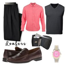 """Business attire"" by unknown12132 ❤ liked on Polyvore featuring Lands' End, Parker Dusseau, Nunn Bush, men's fashion and menswear"
