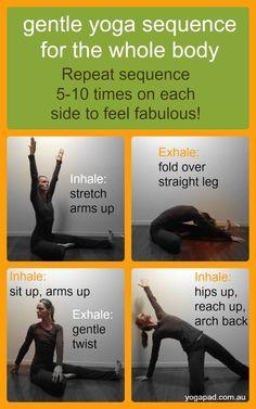 gentle hatha flow yoga sequence  hatha yoga  pinterest