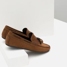 ZARA - COLLECTION AW15 - LEATHER TASSEL LOAFERS