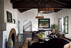 Diane Keaton designed and owned this gorgeous and rustic Spanish Colonial residence in Los Angeles