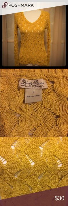 "🆕Lucky brand mustard colored cotton knit sweater NWOT Lucky brand mustard colored cotton knit sweater! Size small; approximate flat measurements: length 22"" & width 15"". No flaws! Reasonable offers warmly welcomed 😊 Lucky Brand Sweaters V-Necks"