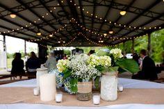 Plantation wedding, outdoor covered reception