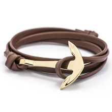 Europe type style leather anchor bracelet adorn article Tom hope...