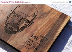 ON SALE Let's Cook Breaking Bad Custom Cutting Board Anniversary Wedding or Housewarming Gift, Laser Engraved, Kitchen Decor