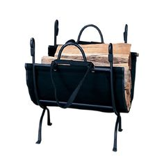 You can't enjoy a fireplace without wood, so make sure you have plenty on-hand with this deluxe wrought iron log holder that just happens to be the perfect complement to your black ball andirons. This holder is made with sturdy cast iron.