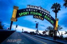 End of The Trail Route 66. Santa Monica Peir