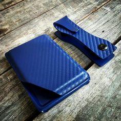 Carbon Fiber Police Blue EDC PaK. You know you want it! #kkg #kobrakydexgear #keykradle #wallet #edcpak #carbonfiber