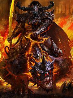 Artist: Alexander Deruchenko aka deruch - Title: Rusty Iron Warrior - Card: Domion, Hand for Hire () Demon Art, Fantasy Demon, Ange Demon, Fantasy Monster, Fantasy Warrior, Monster Art, Dark Fantasy Art, Fantasy Artwork, Dark Art