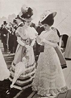 Grand Prix - 1906 Mode Vintage, Retro Vintage, Edwardian Fashion, Vintage Fashion, Gibson Girl, Fashion Today, Women's Fashion, Gilded Age, Pregnancy Photos
