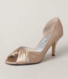 Caidley Champagne/Almond Satin $129.90 size #36