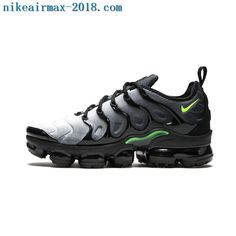 4aa819761cf 2018 Nike Air Vapormax Plus Neon Mens Sneakers Black Green Gray Neon  Sneakers