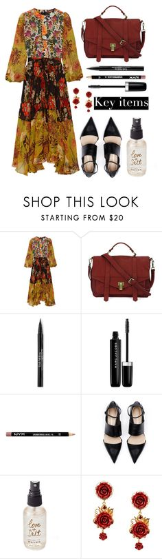 """""""""""Nothing is so painful to the human mind as a great and sudden change"""" - Frankenstein, Mary Shelley"""" by punkrockmeansfreedom ❤ liked on Polyvore featuring Duro Olowu, Trish McEvoy, Marc Jacobs, NYX, Olivine, Dolce&Gabbana and MANGO"""