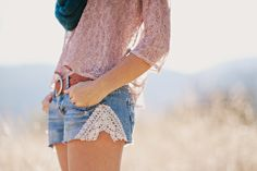 Shorts made from jeans. . .also this site is an inspiring site for photogs!  Amanda K Photography