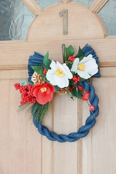 20161227_05 New Years Decorations, Cold Porcelain, Mother And Child, Flower Arrangements, Christmas Crafts, Bouquet, Wreaths, Seasons, Handmade