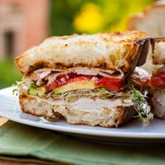 Turkey and Avocado Sandwich with Alfalfa Sprouts | Tasty Kitchen: A Happy Recipe Community! - that is the most delicious bread!
