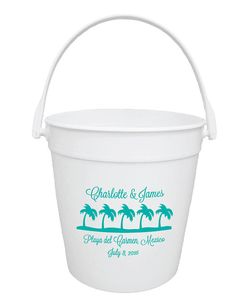 50 Wedding Favors Personalized Destination Wedding Sand Pail Buckets - Perfect as a gift for your younger guests!
