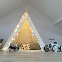 Tipi für kleine Indianer im Kinderzimmer / Teepee for your child's room made by Babosklep via DaWanda.com