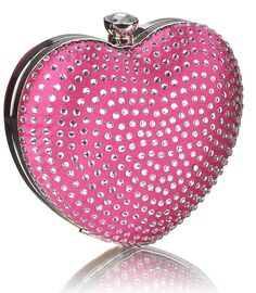 Fabulously girly and sparkly, this heart shaped clutch bag gives in to everything girly love; sparkle and somewhere to hide your lippie. Would look gorgeous for any special event. Looking Gorgeous, Evening Bags, Clutch Bag, Flask, Heart Shapes, Special Events, Sparkle, Girly, Bling
