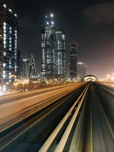 Dubai #MetroLineAtNight