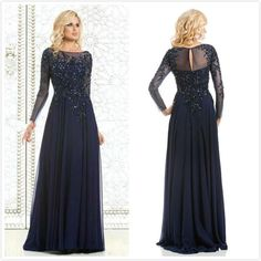 Royal Blue Bride Mother&039;s Dresses Long Sleeves Lace Applique Beading Wedding A Line Evening Gowns Floor length Plus size Mother&039;s Gowns