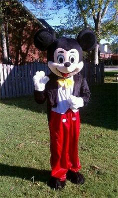Mickey Mouse Character  Contact Us  Call, e-mail OR TEXT! :)  615-593-3418  real_cartoons@yahoo.com
