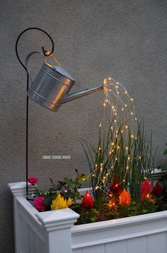 DIY Spilling Solar Lights. visit for tutorial.
