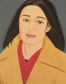 Alex Katz, THE RED SCARF (ADA IN POLO COAT)
