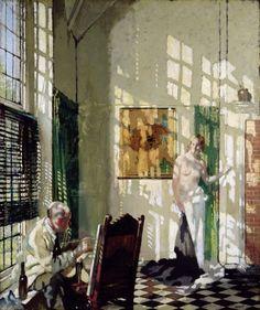 Sir William Orpen (Irish, 1878-1931) - Sunshine, 1925