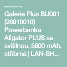 Powerbanka Aligator PLUS se svítilnou, 5600 mAh, stříbrná