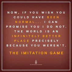 The Imitation Game - Beautiful, beautiful film! Heart wrenching!