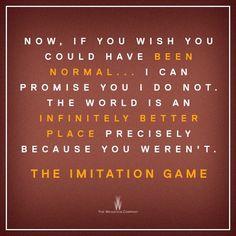 The Imitation Game - Beautiful, beautiful film! Heart wrenching!