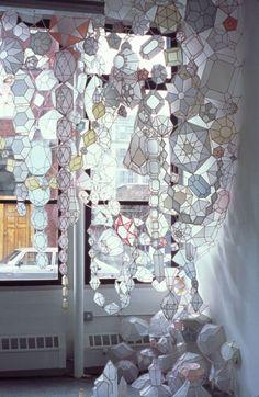 kristen hassenfeld's paper chandeliers