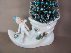 Vintage Christmas Decoration Upcycled by ThirstyOwlVintage on Etsy