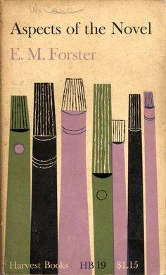 """Robert Korn : Cover design for """"Aspects of the Novel"""", written by E.M. Forster, 1954"""