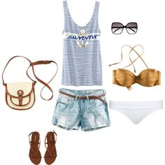 Beach! I own that bathing suit top. :)