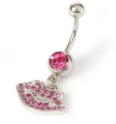 #Claire`s                 #ring                     #Bling #Lips #Belly #Ring #Claire's                 14G Bling Lips Belly Ring | Claire's                                          http://www.seapai.com/product.aspx?PID=1856689