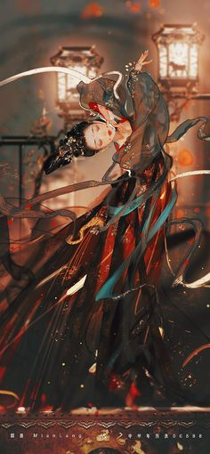 Manga Watercolor, Geisha Art, China Art, Rainbow Art, Wattpad, Manga Illustration, Beauty Art, Hanfu, Anime Art Girl