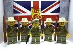 5x WWII LEGO British: 1x Lieutenant S.B.S (Far East) 1944 & 4x Chindits