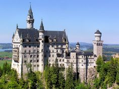 This castle was the real inspiration behind the classic Disney movie, Sleeping Beauty.     King Ludwig's Neuschwanstein Castle in Bavaria by B℮n, via Flickr